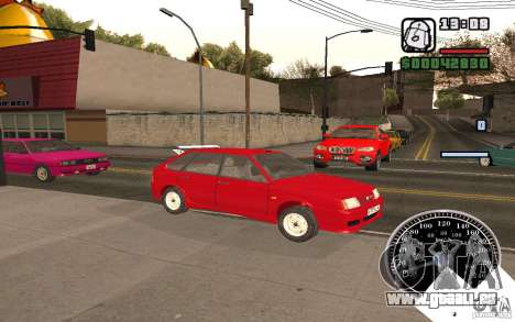 VAZ 21093i pour GTA San Andreas vue de dessus