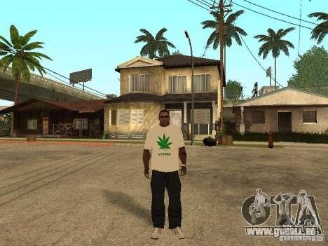 T-shirt avec de l'herbe pour GTA San Andreas