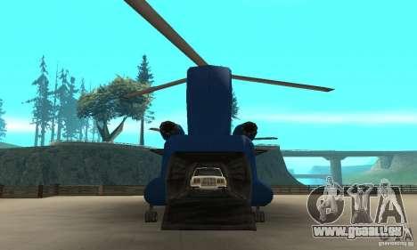 CH-47 Chinook ver 1.2 pour GTA San Andreas vue arrière