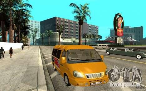 Gazelle 32213 (Restajl) für GTA San Andreas zurück linke Ansicht
