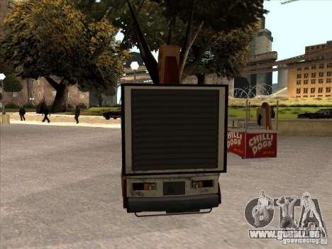 Sweeper Pizza Boy pour GTA San Andreas laissé vue
