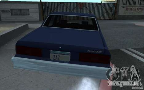 1983 Chevrolet Impala pour GTA San Andreas laissé vue