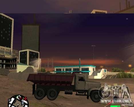 Camion à benne basculante KrAZ-256 pour GTA San Andreas laissé vue