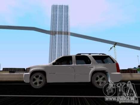 Chevrolet Tahoe LTZ 2013 für GTA San Andreas zurück linke Ansicht