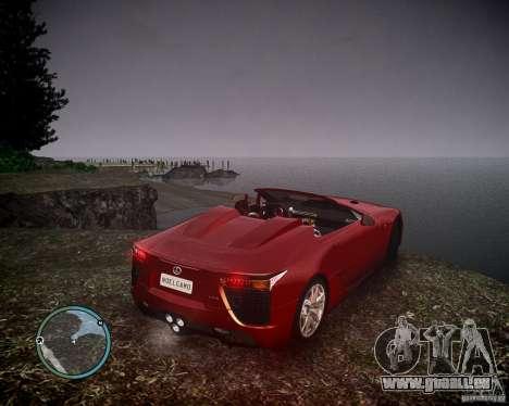 Lexus LF-A Roadster pour GTA 4 est une gauche