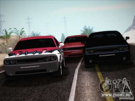 Dodge Challenger SRT8 2010 für GTA San Andreas Unteransicht