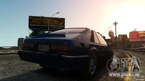 Uranus Hatchback pour GTA 4 Vue arrière de la gauche