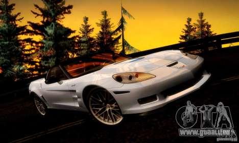 Chevrolet Corvette ZR-1 pour GTA San Andreas moteur