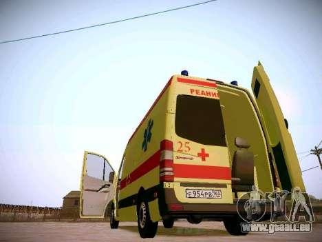 Mercedes Benz Sprinter Ambulance pour GTA San Andreas vue de dessus