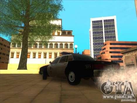 Chevrolet Caprice Interceptor LAPD 1986 für GTA San Andreas zurück linke Ansicht