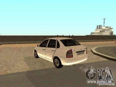 Lada Kalina für GTA San Andreas zurück linke Ansicht