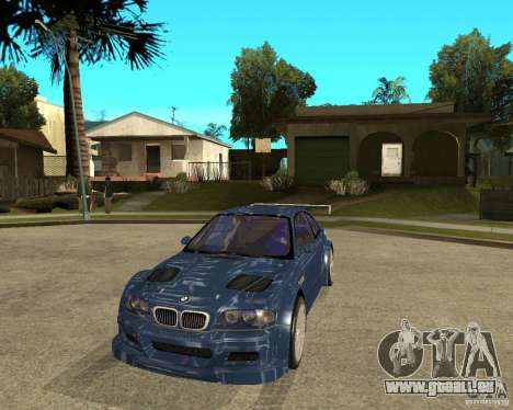 BMW M3 GTR von Need for Speed Most Wanted für GTA San Andreas Rückansicht
