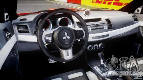 Mitsubishi Lancer Evo X 2011 pour GTA 4 est un droit