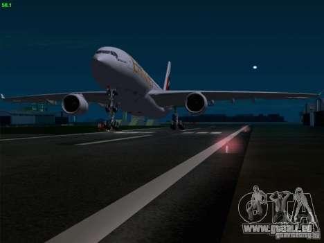 Airbus A330-200 Emirates pour GTA San Andreas salon