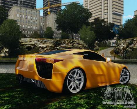 Lexus LF-A für GTA 4 rechte Ansicht