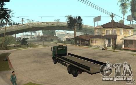 DFT30 Dumper Truck für GTA San Andreas zurück linke Ansicht