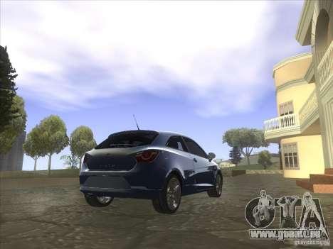 Seat Ibiza 2008 pour GTA San Andreas laissé vue