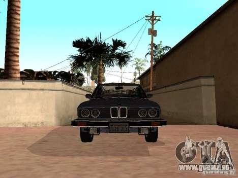 BMW 535is E28 pour GTA San Andreas sur la vue arrière gauche