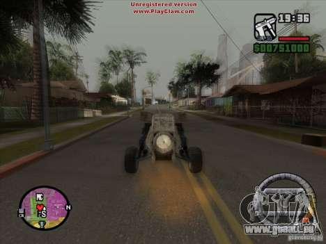 Turbo car v.2.0 pour GTA San Andreas vue intérieure
