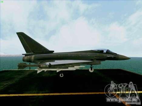 Eurofighter-2000 Typhoon pour GTA San Andreas vue de droite