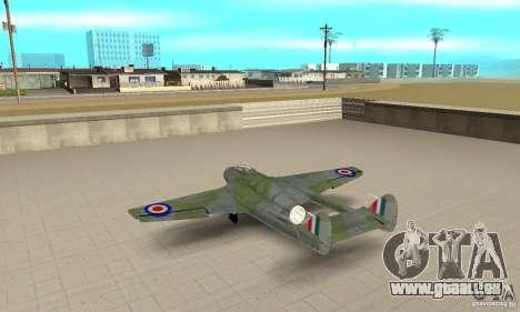 De-Havilland-Vampire ver 2.0 pour GTA San Andreas sur la vue arrière gauche