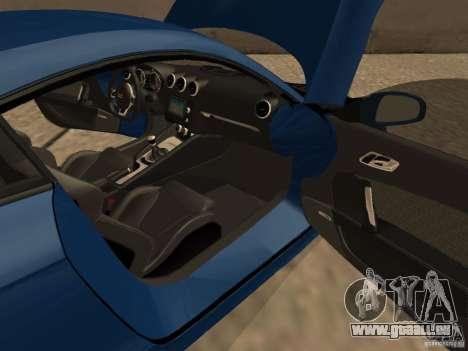 Audi TT RS pour GTA San Andreas vue intérieure