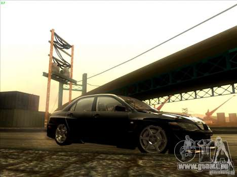 Mitsubishi Lancer Evolution VIII Full Tunable pour GTA San Andreas vue intérieure