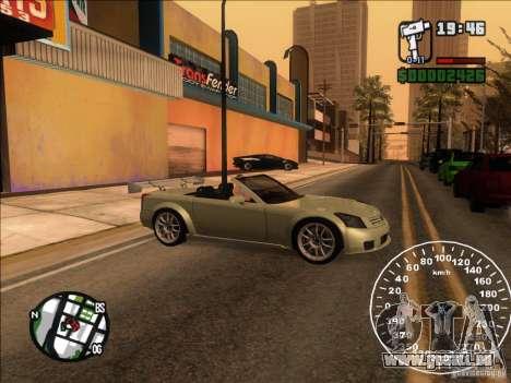 Cadillac XLR pour GTA San Andreas vue intérieure
