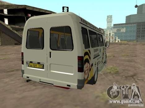Gazelle 32213 Beeline pour GTA San Andreas sur la vue arrière gauche