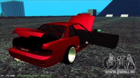 Nissan Onivia pour GTA San Andreas vue intérieure