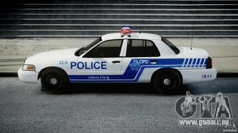 Ford Crown Victoria CVPI-V4.4M [ELS] pour GTA 4 est une gauche