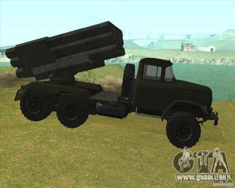 ZIL-131 à Grad pour GTA San Andreas laissé vue
