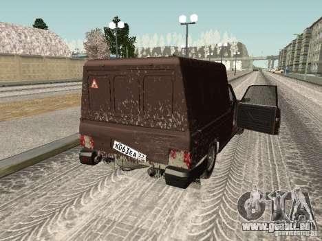 IZH 27175 édition hiver pour GTA San Andreas vue intérieure