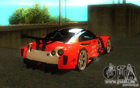 Nissan Skyline R35 GTR pour GTA San Andreas moteur