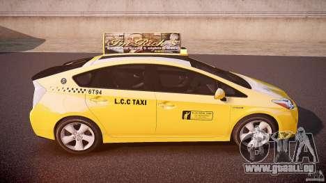 Toyota Prius LCC Taxi 2011 pour GTA 4 vue de dessus