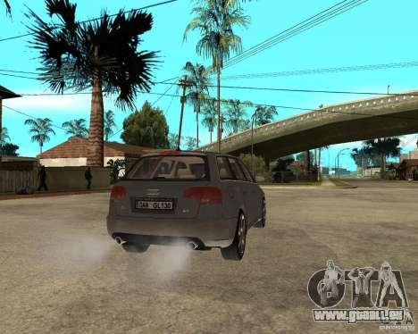 Audi A4 2005 Avant 3.2 quattro pour GTA San Andreas sur la vue arrière gauche