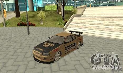 Nissan Skyline R-34 GTR pour GTA San Andreas moteur
