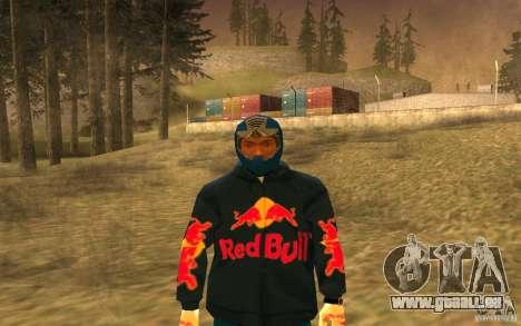 Red Bull Clothes v1.0 für GTA San Andreas fünften Screenshot