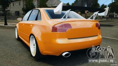 Audi RS4 EmreAKIN Edition pour GTA 4 Vue arrière de la gauche