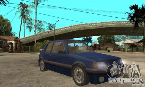 Peugeot 205 GTI für GTA San Andreas Rückansicht