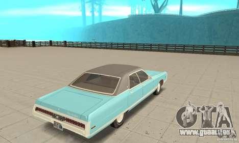 Chrysler New Yorker 4 Door Hardtop 1971 pour GTA San Andreas laissé vue