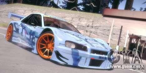 Nissan Skyline Touring R34 Blitz für GTA San Andreas