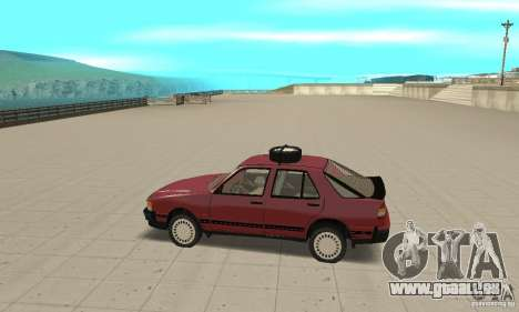Saab 9000 pour GTA San Andreas laissé vue