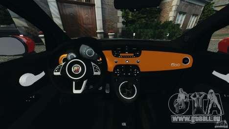 Fiat 500 Abarth pour GTA 4 Vue arrière