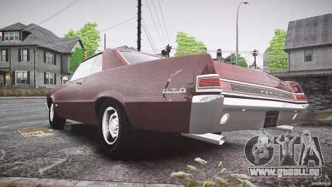 Pontiac GTO 1965 pour GTA 4 est un droit