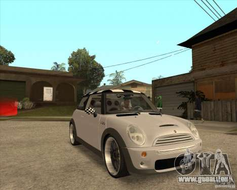 Mini Cooper für GTA San Andreas Rückansicht