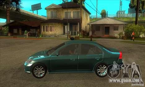 Honda Civic 2005 pour GTA San Andreas laissé vue