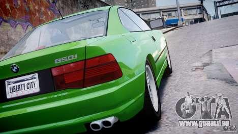 BMW 850i E31 1989-1994 pour GTA 4 vue de dessus