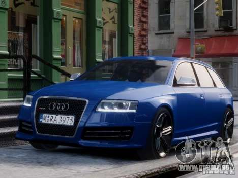 Audi RS6 Avant für GTA 4 rechte Ansicht