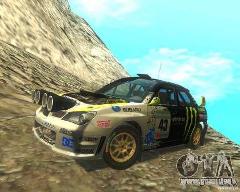 Subaru Impreza WRX STI DIRT 2 pour GTA San Andreas salon